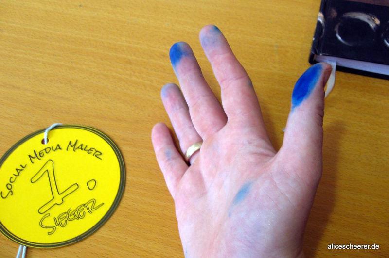 Social-Media-Maler: Trophäe und Kampfspuren