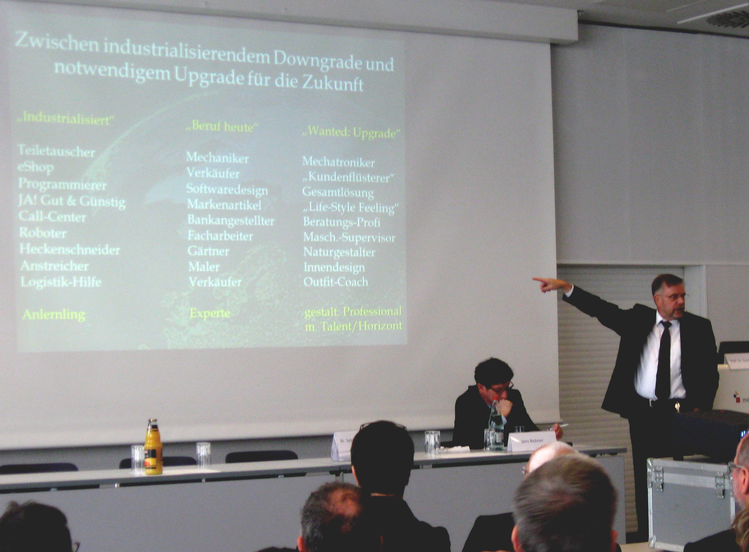 """Gunther Dueck bei der Veranstaltung """"Steilvorlagen für den Unternehmenserfolg"""""""