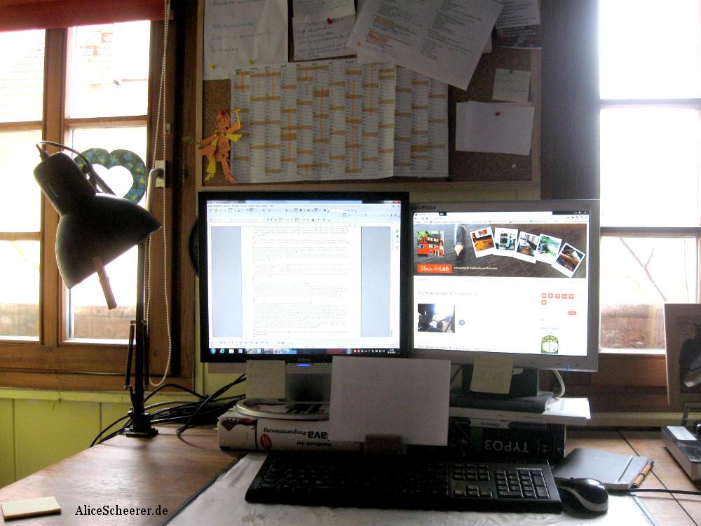 Mein Schreibtisch 2014