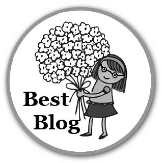 Best-Blog-Award grau, ohne Randverzierung, mit Brille (by Alice Scheerer)
